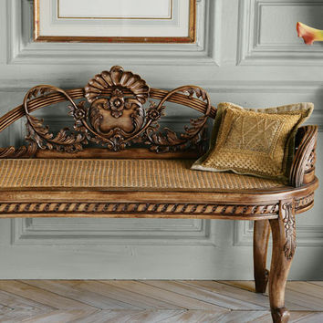 Shell Cane Bench