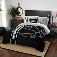 San Antonio Spurs NBA Full Comforter Set (Soft & Cozy) (76 x 86)