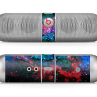 The Neon Colored Paint Universe Skin for the Beats by Dre Pill Bluetooth Speaker