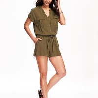 Utility Romper for Women | Old Navy