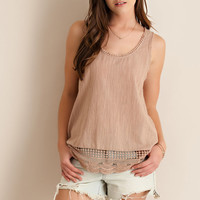 Textured Tank Top - Tan