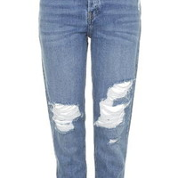 MOTO Blue Ripped Hayden Jeans - Blue