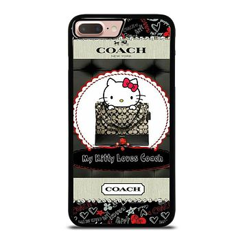 HELLO KITTY LOVES COACH iPhone 8 Plus Case Cover