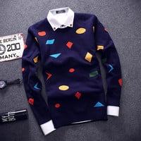 Slim Fitting Men's Comfortable Knitted Sweater Knitwear