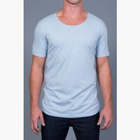 {Free Form} Modern Crew-Neck Tri-blend Tee in Favorite Jeans Blue
