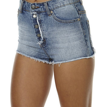 CHEAP MONDAY EASE WOMENS DENIM SHORT - OPEN