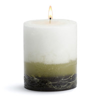Stone Candles - Green Tea Fig Pillar Candle - 3x3