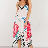 Printed Summer Dress in Ivory
