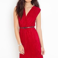 Pleated Tail Dress - Red in  What's New at Nasty Gal