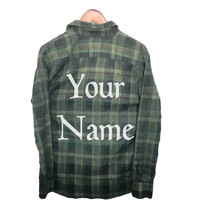 Custom Name Shirt on Plaid Flannel!