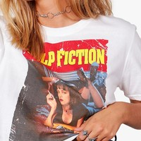 Amber Pulp Fiction Licence Crop Top | Boohoo