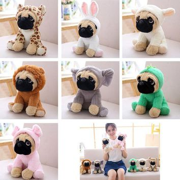 Do Dower 1pcs 20cm Stuffed Simulation Dogs Plush Sharpei Pug Lovely Puppy Pet Stuffed Plush Animal Toys For Children Gift