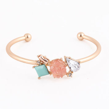 Sweet Tooth Cuff Bracelet (Peach/Mint)