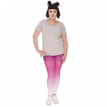 Curvy Purple Gradient Leggings