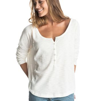 Current Carry Long Sleeve Henley Top 889351488473 | Roxy