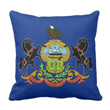 Pennsylvania State Flag American MoJo Pillow