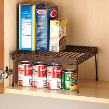 Bronze Kitchen Cabinet Shelf Storage Pantry Organizer Space Saver Spice Rack