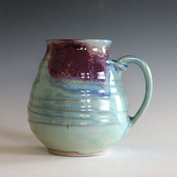 LARGE Coffee Mug, 26 oz pottery mug, unique coffee mug, handmade ceramic cup, tea cup, coffee cup, handthrown mug, stoneware mug