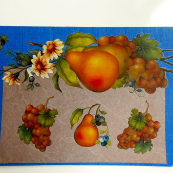 Ripe Pears and Fresh Grapes Blank Expressions 2012 Handmade Greeting Card