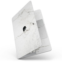 """White Grungy Marble Surface - 13"""" MacBook Pro without Touch Bar Skin Kit"""