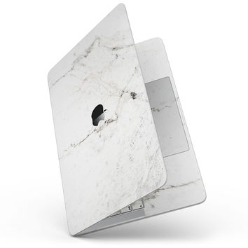 "White Grungy Marble Surface - 13"" MacBook Pro without Touch Bar Skin Kit"