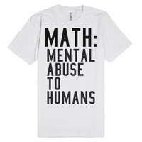 Math-Unisex White T-Shirt