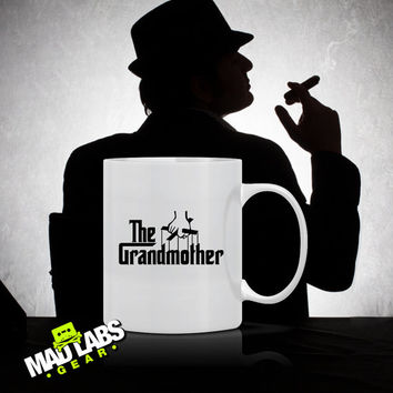 The Grandmother T-Shirt Gifts for mom DTG mothers Day Christmas Gift Grandma Coffee Mug Latte Mens Ladies Womens gift mad labs Mug-4