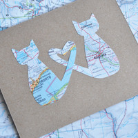 Love Cats Custom Map Card