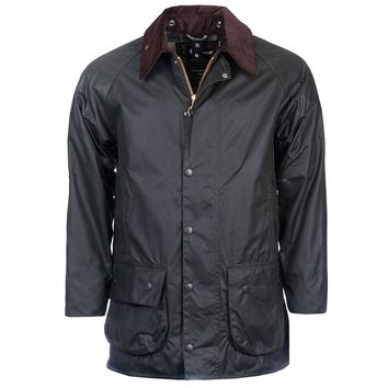 Beaufort Waxed Jacket in Sage by Barbour