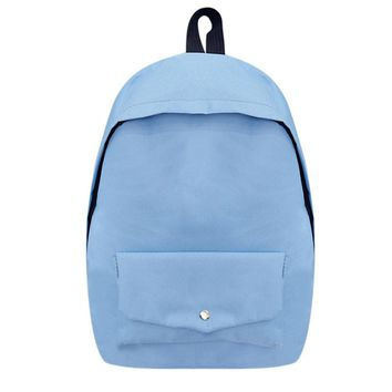 Preppy Chic Canvas Backpack Casual Girls Simple Students School Bags for Teenage Girls College Wind Backpacks Femal Backpack