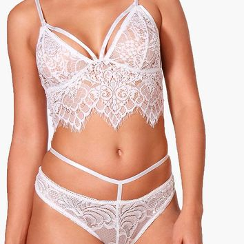 Aria Lace Long Line Bralet | Boohoo