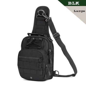 Sports gym bag SINAIRSOFT Tactical bag Molle Fishing Hiking Hunting Bags  Chest body Sling Single Shoulder Tactical Backpack LY0001&2 KO_5_1