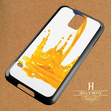 Yellow Paint Splash Samsung Galaxy S3 S4 S5 S6 S6 Edge Case | Galaxy Note 3 4 Case