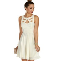 Ivory Crochet Back Dress