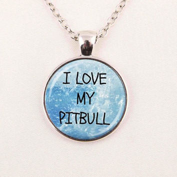 I love my pitbull letter necklace word pendant necklace dog lover gift Fashion Jewelry