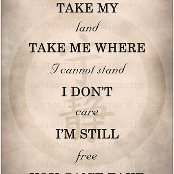 Ballad of Serenity, Firefly theme song, Firefly lyrics poster