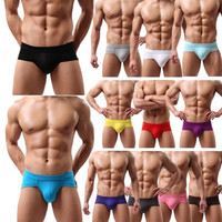 Sexy Men Seamless Low Waist Briefs Short Pants Thongs Underwear = 1705540740