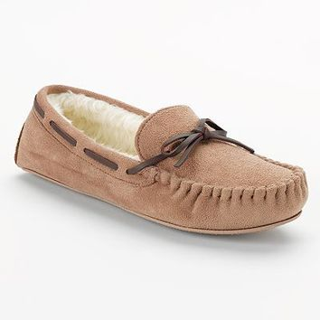 SONOMA life + style Microsuede Moccasin Slippers - Women