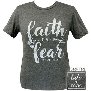 Girlie Girl Originals Lulu Mac Preppy Faith Over Fear Distressed T-Shirt