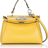Fendi - Peekaboo micro leather shoulder bag