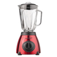 Brentwood 5-Speed Blender with Stainless Steel Base and Glass Jar 500w (Red)