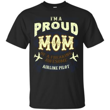 Airline Pilot Proud Mom Of Aweosme Airline Pilot Shirts_Black