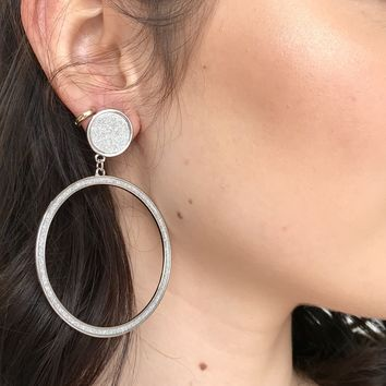 Feel Alive Silver Hoop Earrings