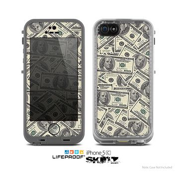 The Hundred Dollar Bill Skin for the Apple iPhone 5c LifeProof Case