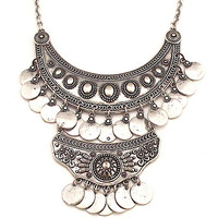 Selene Coin Bib Necklace