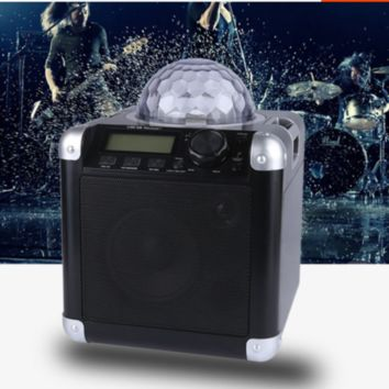 Party Speaker with Disco Lights Bluetooth Radio Karaoke Remote Control