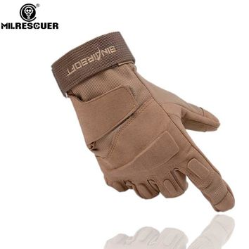 MILRESCUER Outdoor Climbing Gloves Sport Camping Hiking Riding Armor Tactical Full Finger Gloves