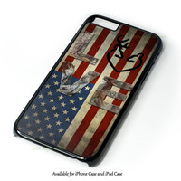 Deer Camo With Love Flag Design for iPhone and iPod Touch Case