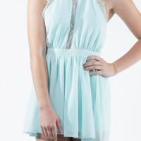 Cool Mint Lace Romper