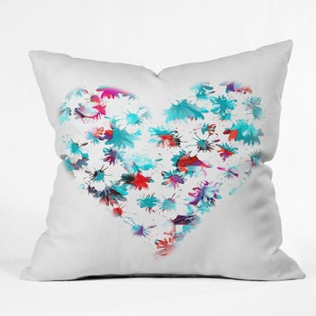 Aimee St Hill Floral Heart Throw Pillow